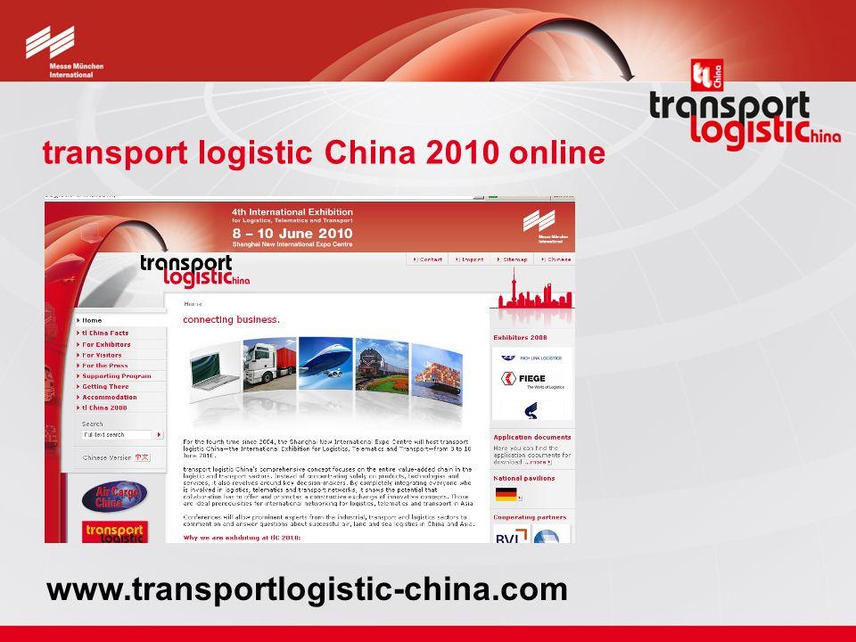 transport logistic China 2010 online www.transportlogistic-china.com