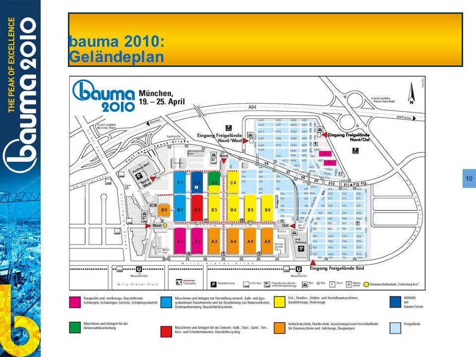 10 bauma 2010: Geländeplan