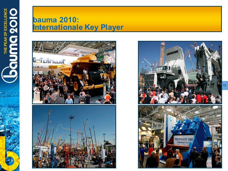 11 bauma 2010: Internationale Key Player