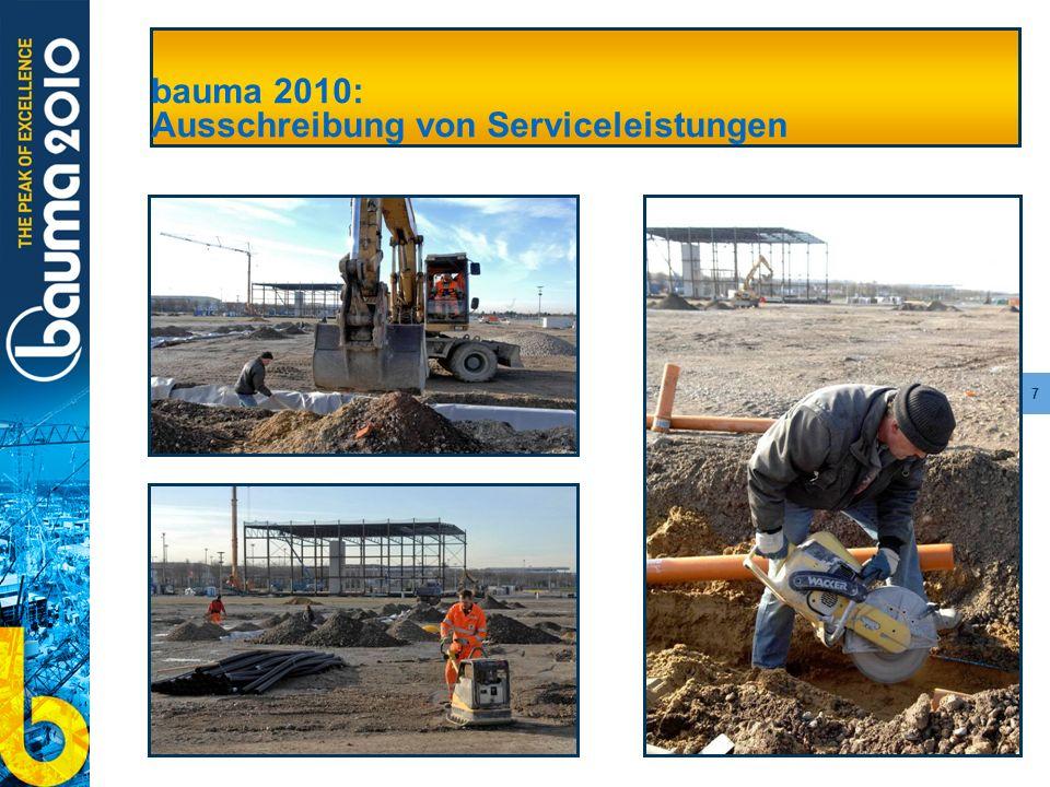 7 bauma 2010: Ausschreibung von Serviceleistungen