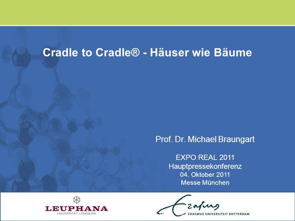 Prof. Dr. Michael Braungart EXPO REAL 2011 Hauptpressekonferenz 04. Oktober 2011 Messe München Cradle to Cradle® - Häuser wie Bäume