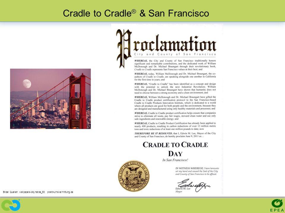 Bilder Quellen: wallpapers-diq.net/de_63; praktikumsvermittlung.de Cradle to Cradle ® & San Francisco