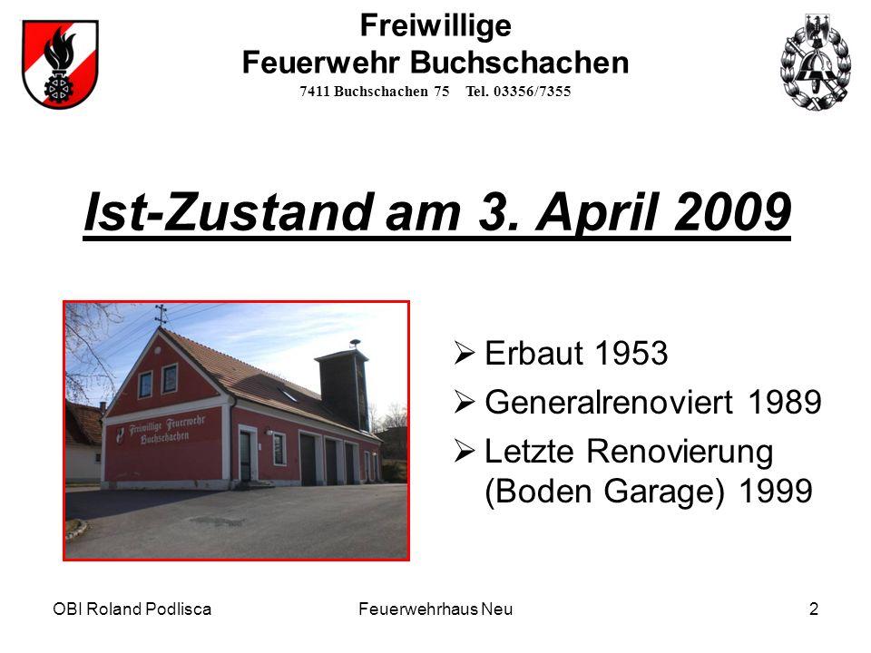 Freiwillige Feuerwehr Buchschachen 7411 Buchschachen 75 Tel.