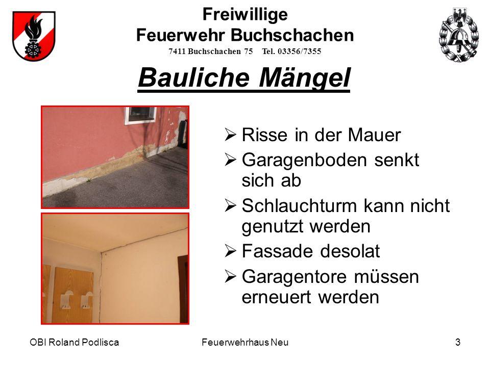 OBI Roland Podlisca4 Freiwillige Feuerwehr Buchschachen 7411 Buchschachen 75 Tel.