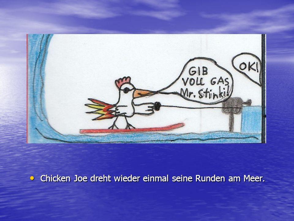 Chicken Joe dreht wieder einmal seine Runden am Meer.
