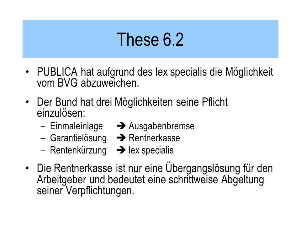 These 6.2 PUBLICA hat aufgrund des lex specialis die Möglichkeit vom BVG abzuweichen.