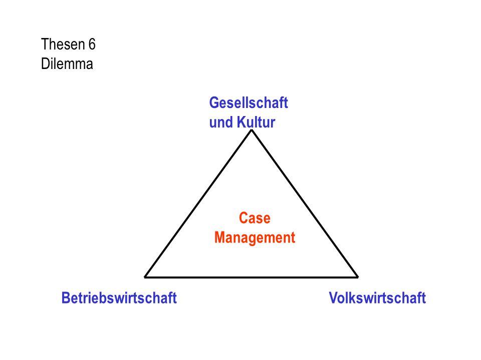 Thesen 6 Dilemma Case Management BetriebswirtschaftVolkswirtschaft Gesellschaft und Kultur