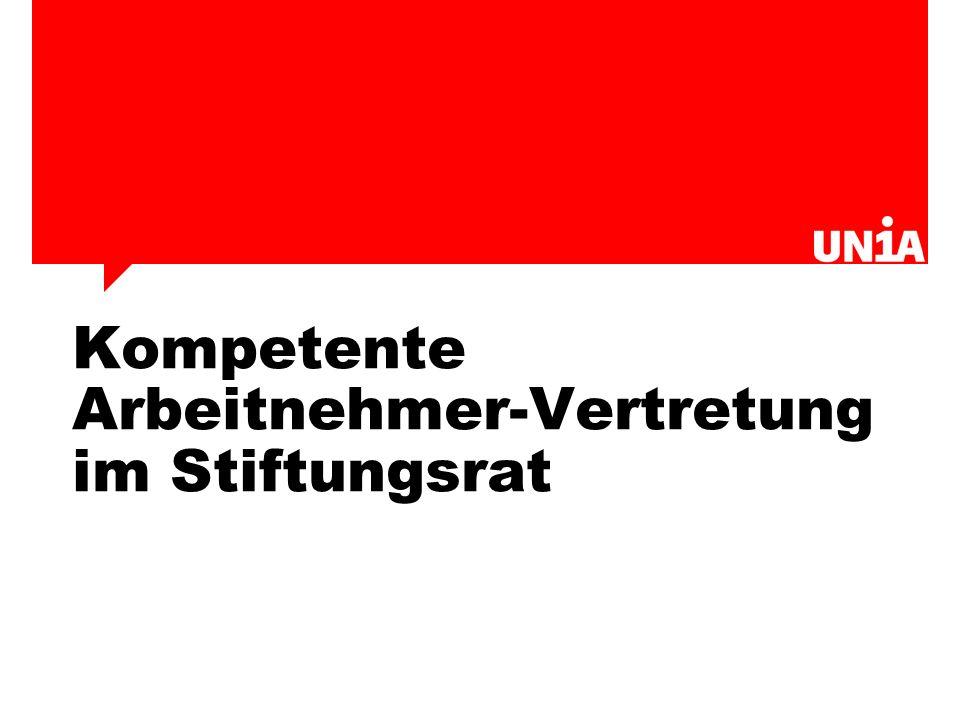 Kompetente Arbeitnehmer-Vertretung im Stiftungsrat