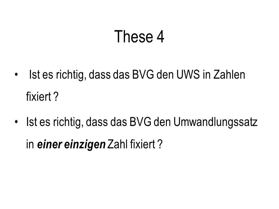 These 5 Beim UWS handelt es sich um einen Mindestwert.