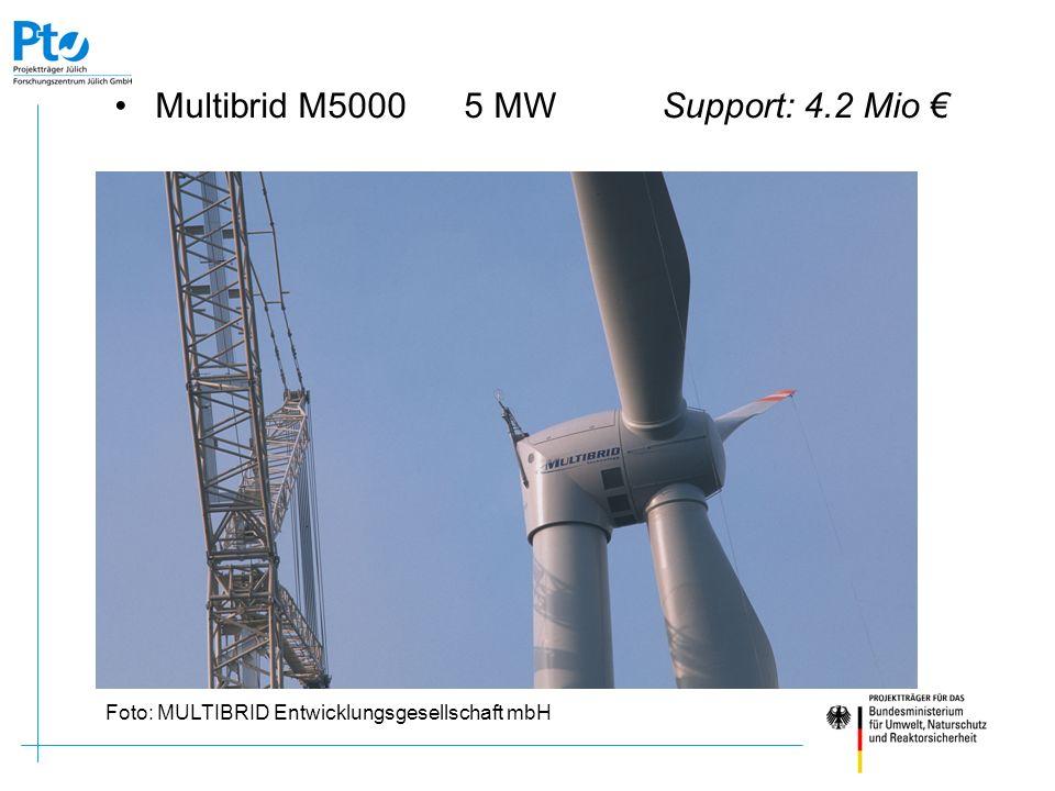 Multibrid M5000 5 MW Support: 4.2 Mio Foto: MULTIBRID Entwicklungsgesellschaft mbH