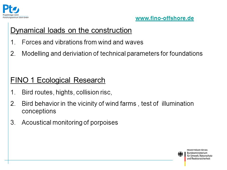 FINO 1 Ecological Research (2) 4.