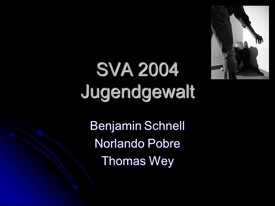 SVA 2004 Jugendgewalt Benjamin Schnell Norlando Pobre Thomas Wey