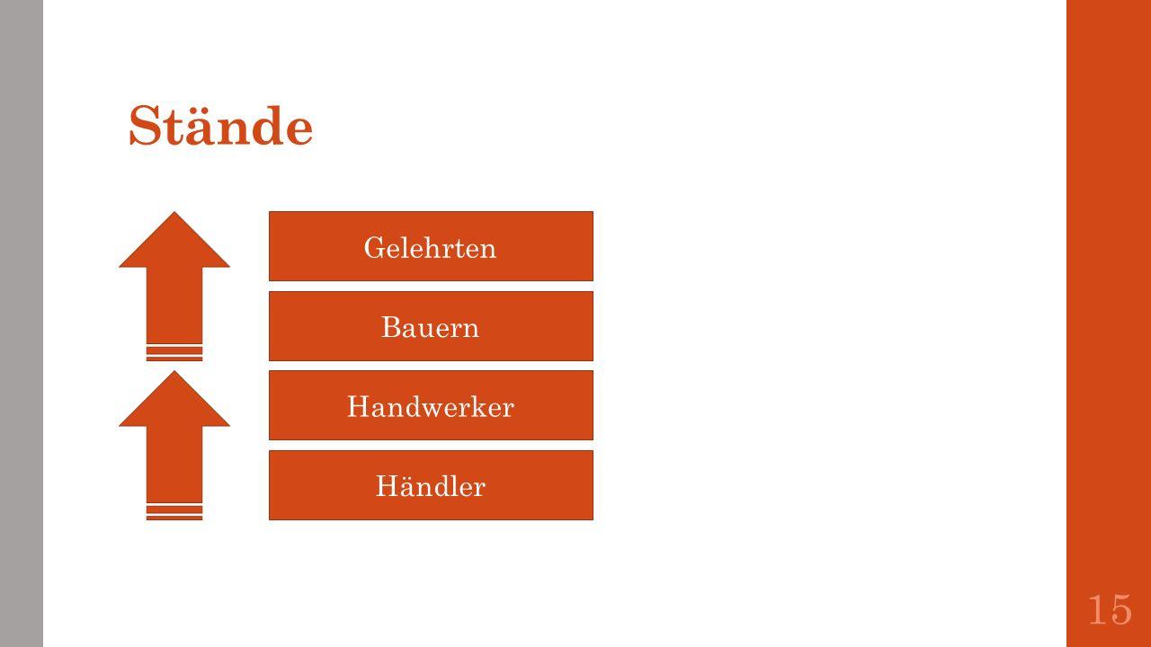Stände 15 Gelehrten Bauern Handwerker Händler