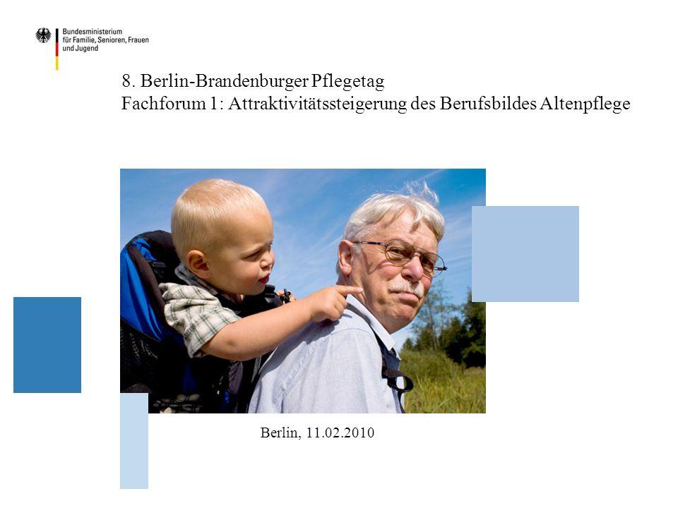 8. Berlin-Brandenburger Pflegetag Fachforum 1: Attraktivitätssteigerung des Berufsbildes Altenpflege Berlin, 11.02.2010