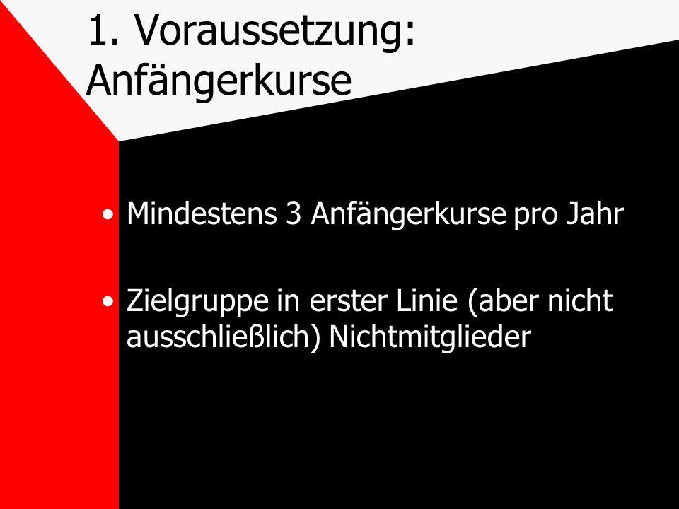 2.Voraussetzung: Öffentlichkeitsarbeit Veröffentlichung im DKV- Bildungsprogramm Aktive Werbung vor Ort (Info an Lokalzeitung, Handzettel, Homepage...)