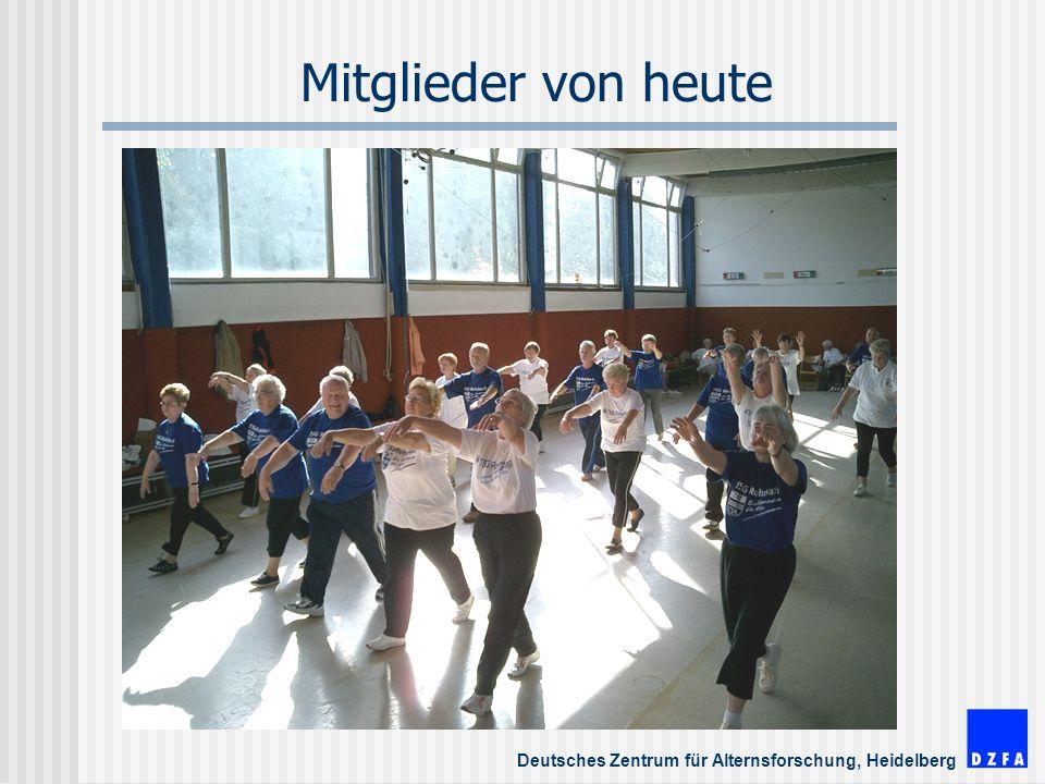 Deutsches Zentrum für Alternsforschung, Heidelberg Mitglieder von heute