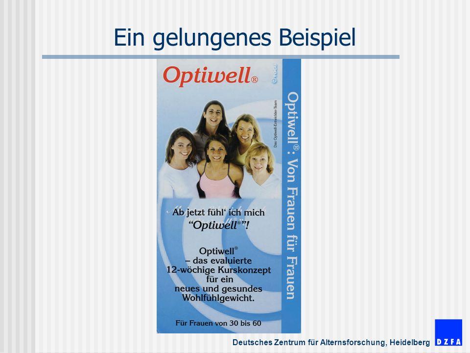 Deutsches Zentrum für Alternsforschung, Heidelberg Ein gelungenes Beispiel