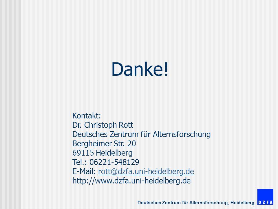 Deutsches Zentrum für Alternsforschung, Heidelberg Danke.