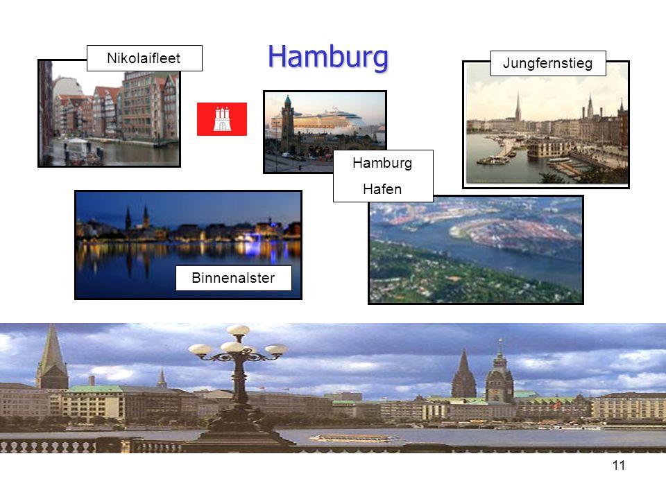 11 Hamburg Jungfernstieg Nikolaifleet Binnenalster Hamburg Hafen