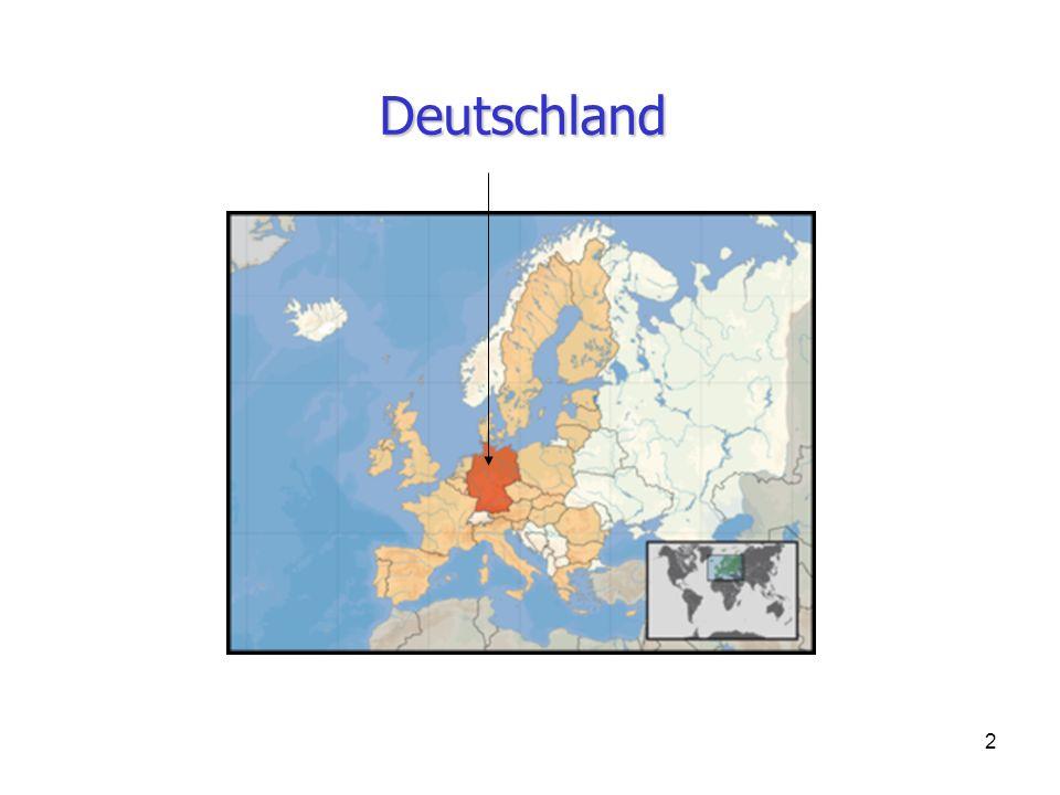 23 1.An welchem Kontinent befindet sich Deutschland.