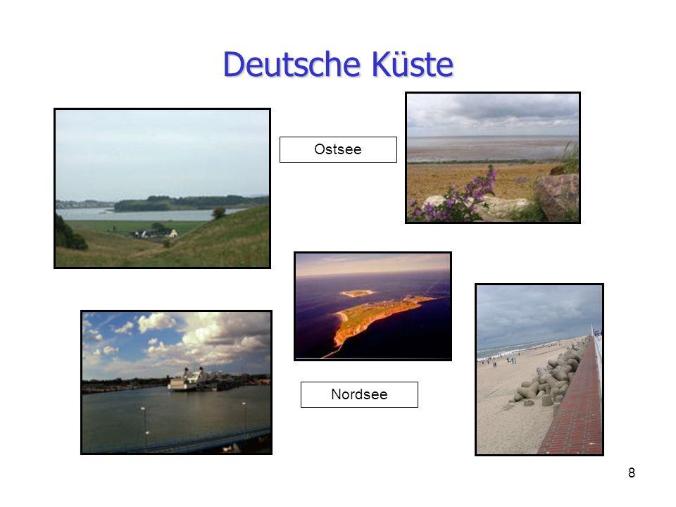 8 Deutsche Küste Nordsee Ostsee