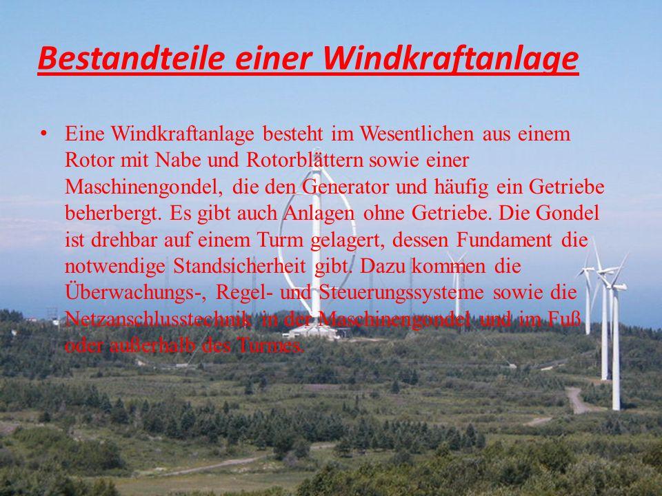 Typenklasse (Windklasse) WKA können für verschiedene Windklassen zugelassen werden.