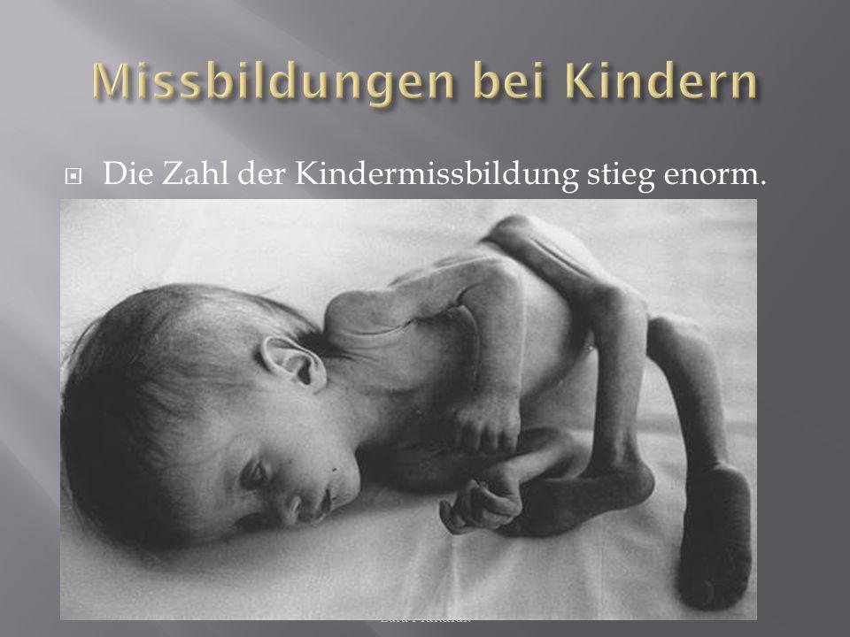 Lara Plundrak Die Zahl der Kindermissbildung stieg enorm.