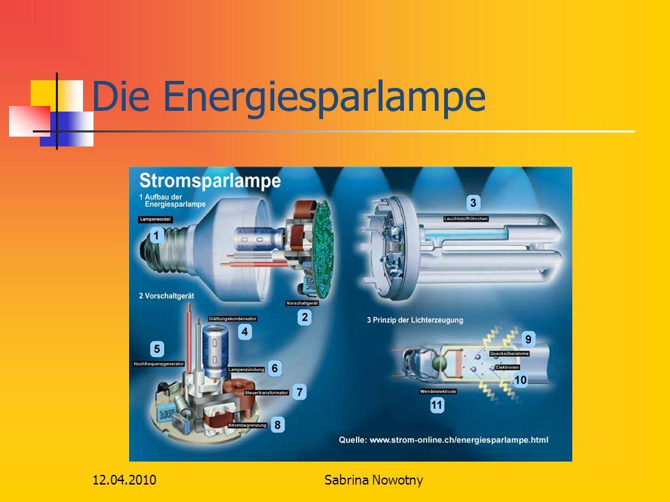 12.04.2010 Die Energiesparlampe Sabrina Nowotny