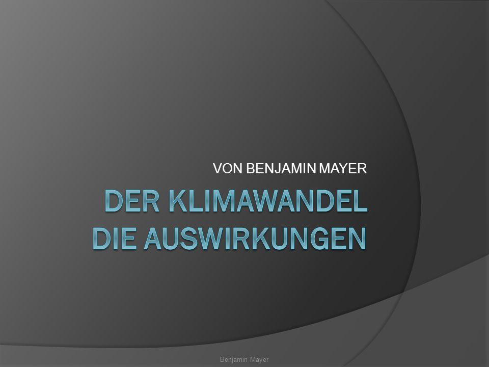 Benjamin Mayer VON BENJAMIN MAYER
