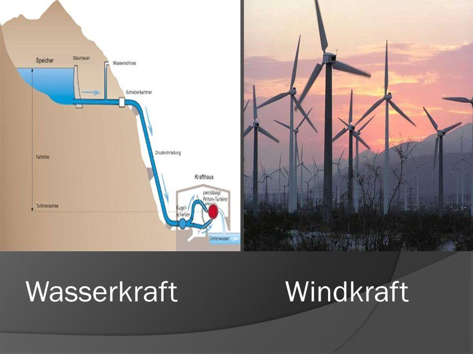 Wasserkraft Windkraft