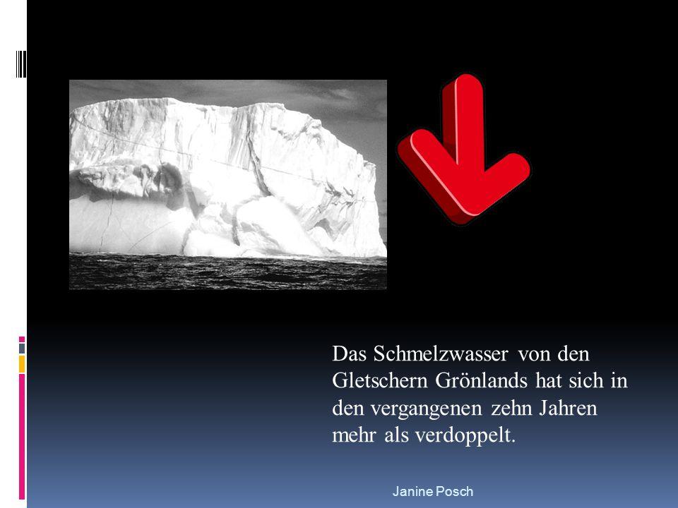 Janine Posch Das Schmelzwasser von den Gletschern Grönlands hat sich in den vergangenen zehn Jahren mehr als verdoppelt.
