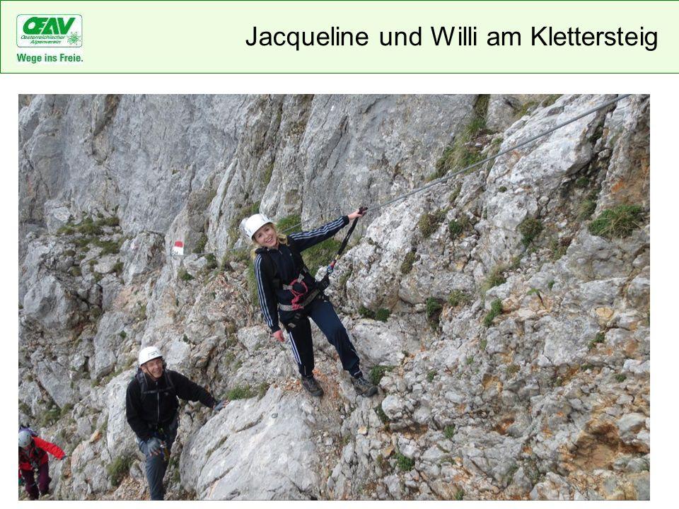 Jacqueline und Willi am Klettersteig