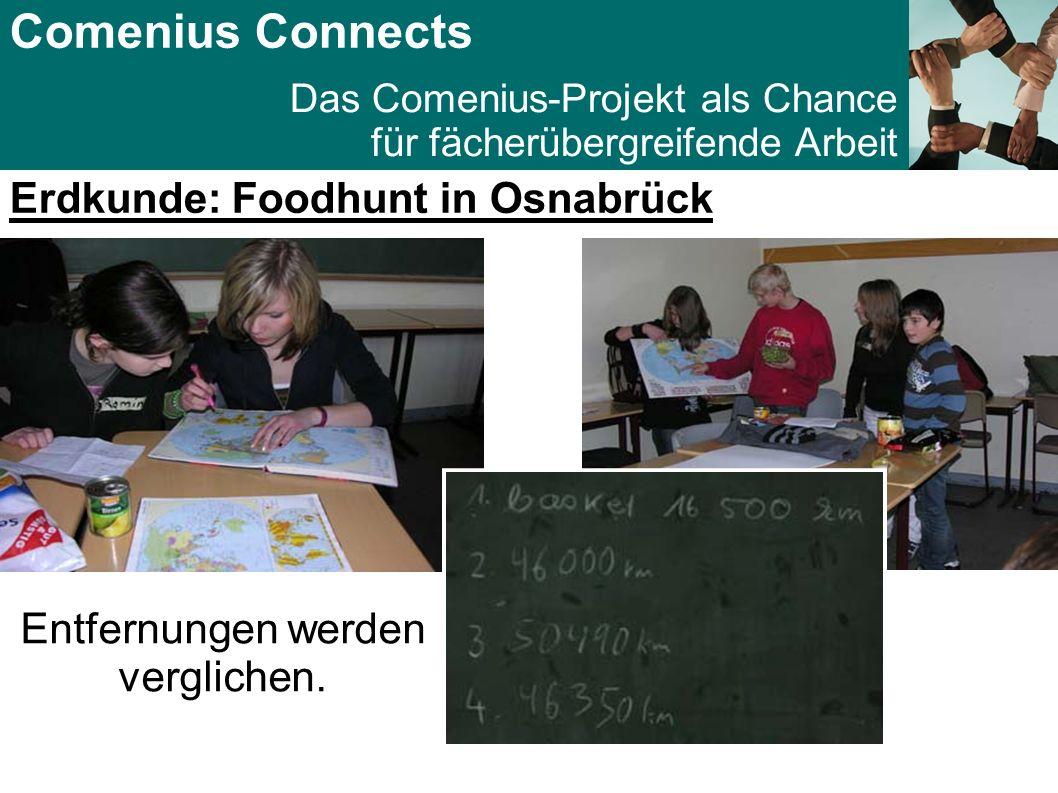 Comenius Connects Das Comenius-Projekt als Chance für fächerübergreifende Arbeit Das Food for Thought Projekt: (Gala-Dinner in Bad Kreuzen, Österreich) Genug Futter für viele Fächer!