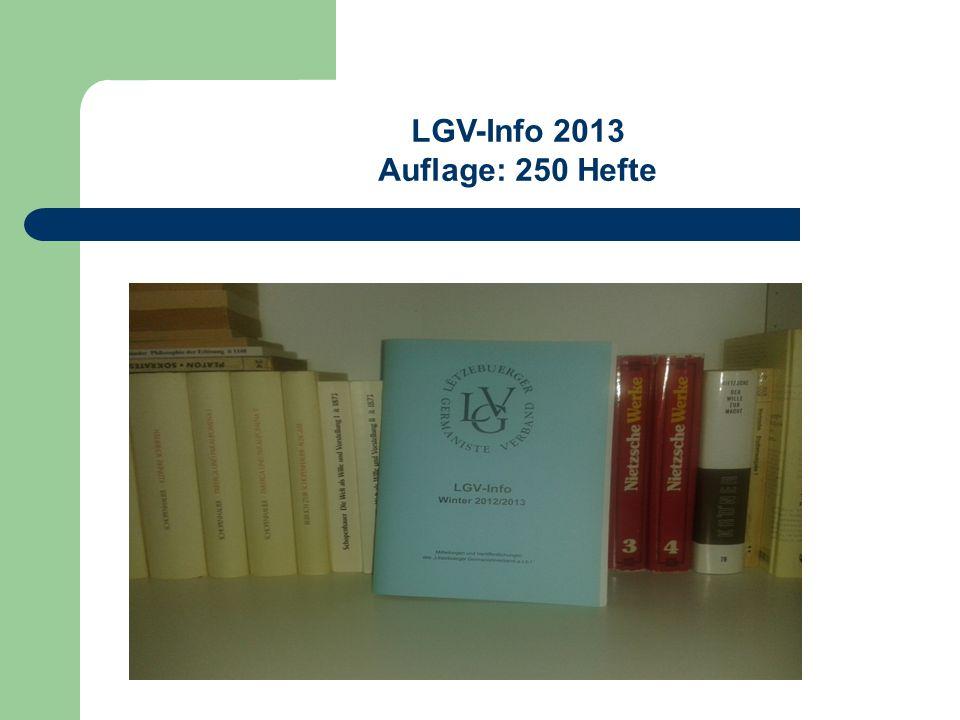 LGV-Info 2013 Auflage: 250 Hefte