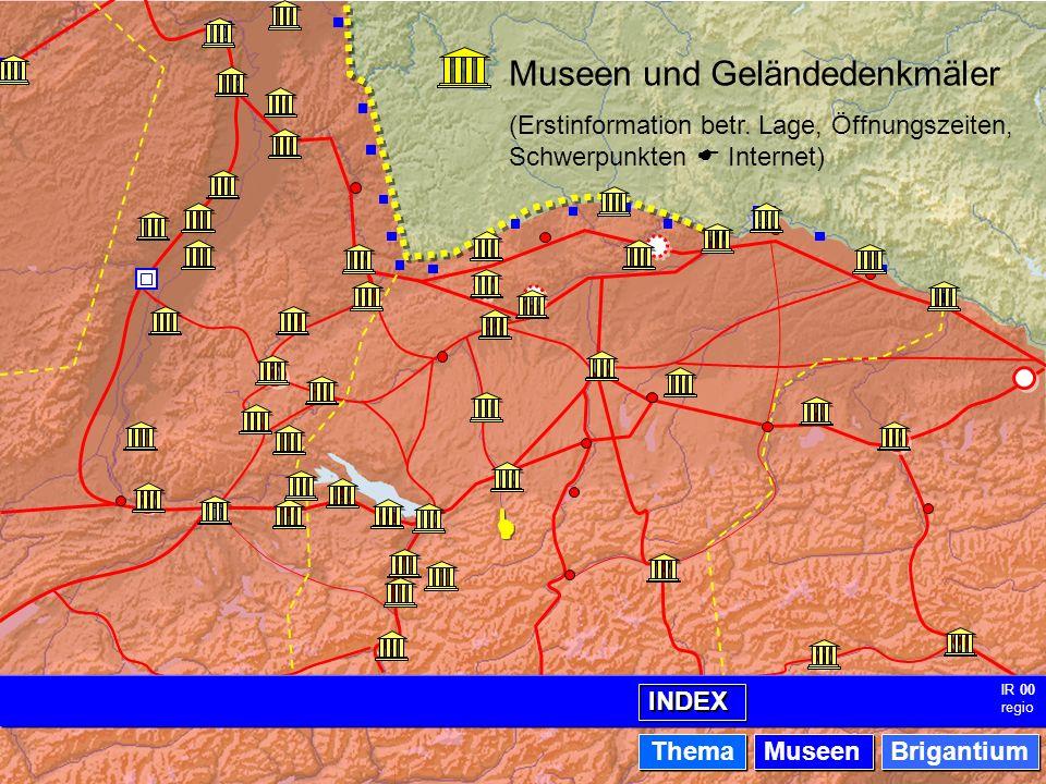 Museen - Index IR 00 regio Museen und Geländedenkmäler (Erstinformation betr.
