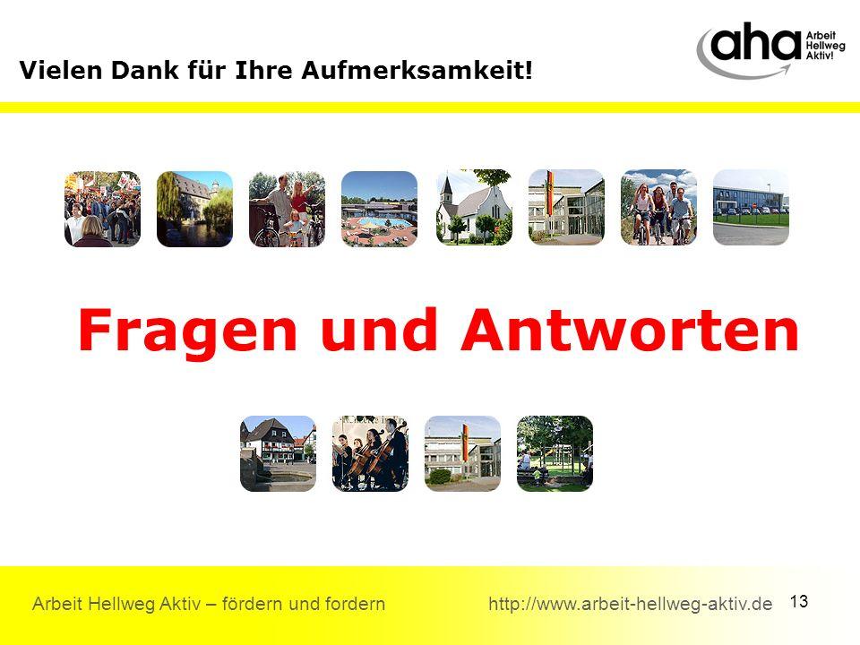 13 Arbeit Hellweg Aktiv – fördern und fordern http://www.arbeit-hellweg-aktiv.de Vielen Dank für Ihre Aufmerksamkeit.