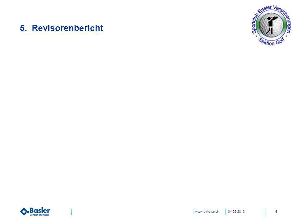 www.baloise.ch 5. Revisorenbericht 04.02.20136