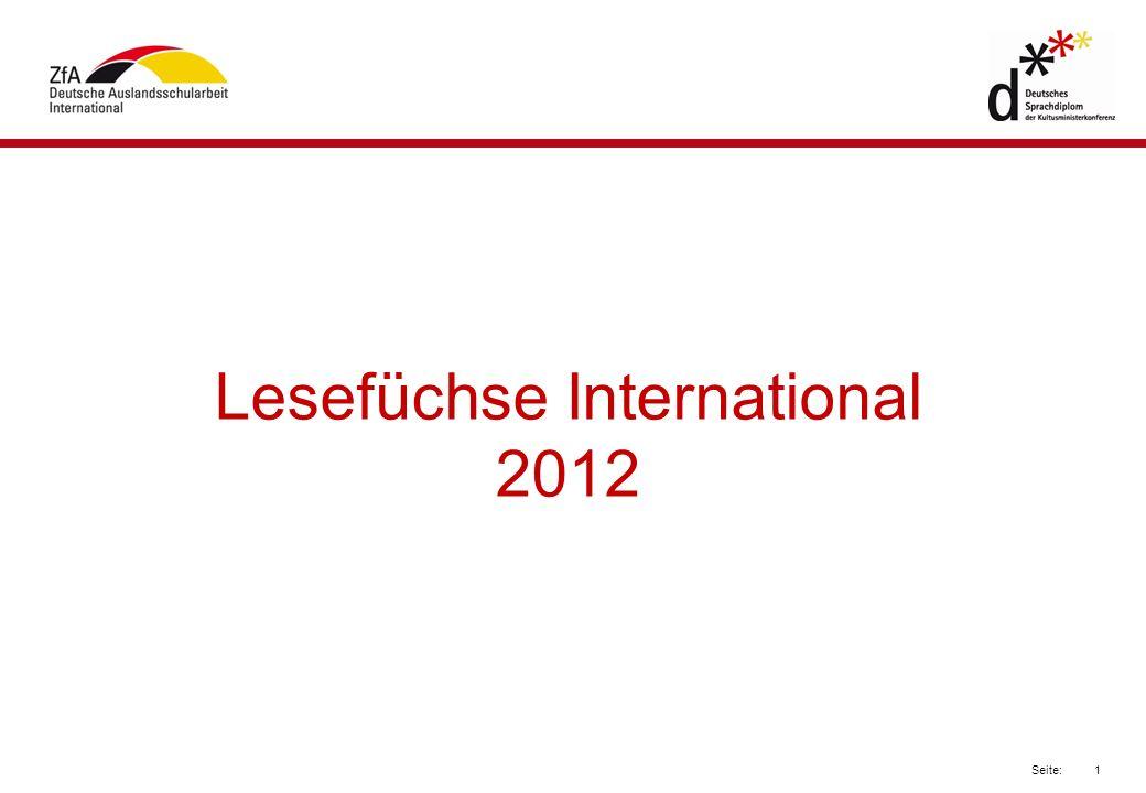 1 Seite: Lesefüchse International 2012