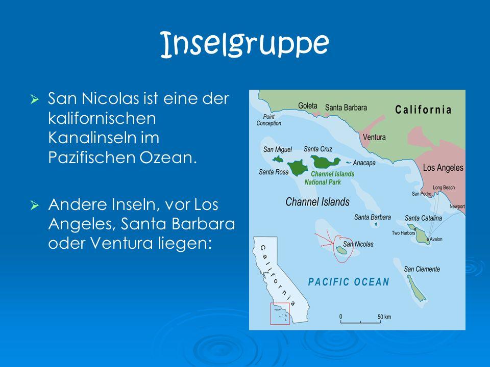 Inselgruppe San Nicolas ist eine der kalifornischen Kanalinseln im Pazifischen Ozean. Andere Inseln, vor Los Angeles, Santa Barbara oder Ventura liege