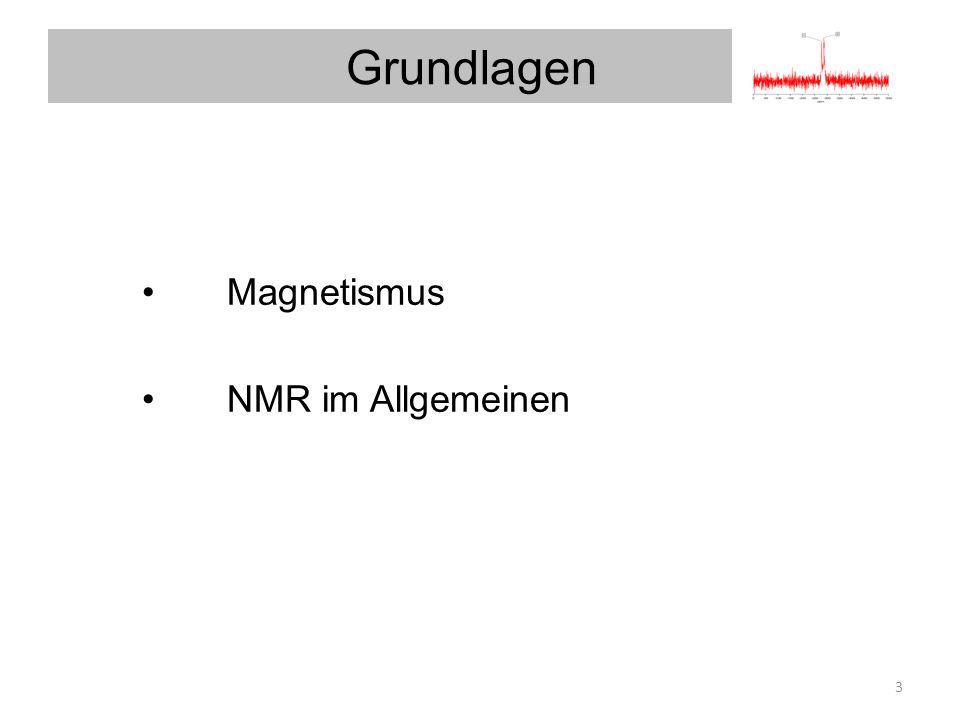Magnetismus NMR im Allgemeinen Grundlagen 3