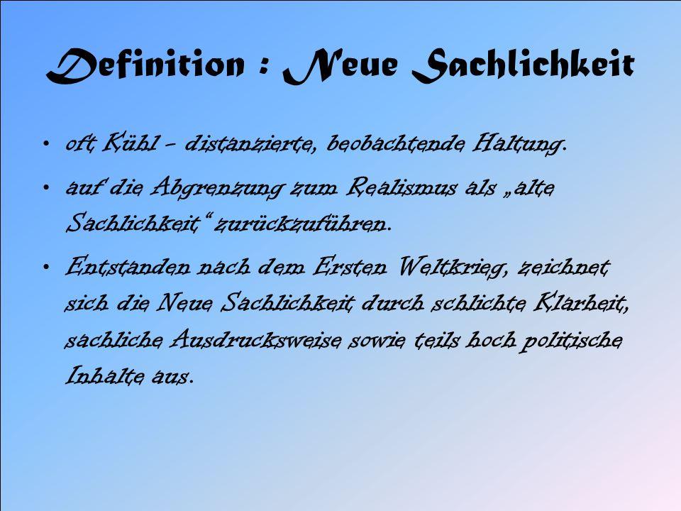 Emil Erich Kästner Hermann Karl Hesse Bertolt Brecht Vertreter und ihre Werke