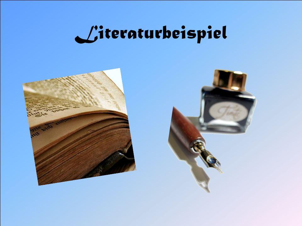 Literaturbeispiel