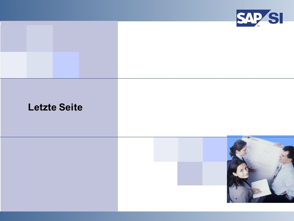 SAP Systems Integration AG 2000 / 41 Letzte Seite