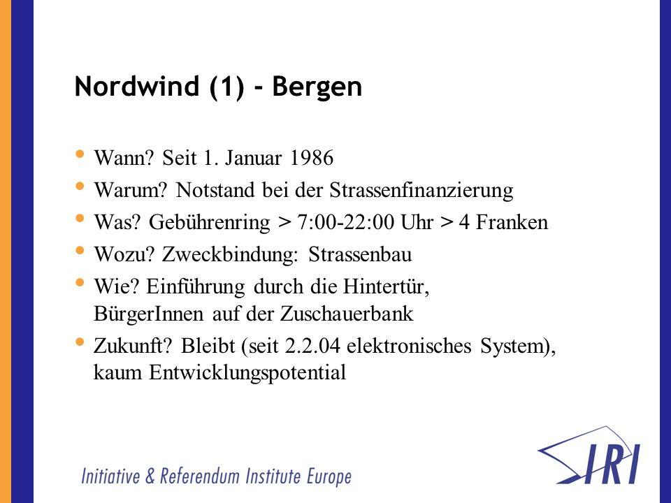 Nordwind (1) - Bergen Wann. Seit 1. Januar 1986 Warum.