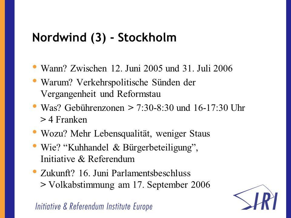 Nordwind (3) - Stockholm Wann. Zwischen 12. Juni 2005 und 31.