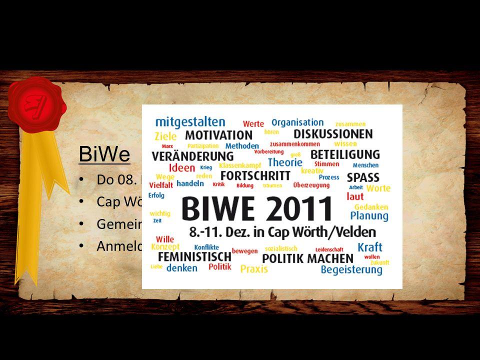 Bericht LGF BiWe Do 08. Dez. 2011 18:00 - So 11. Dez. 2011 14:00 Cap Wörth, Velden am Wörthersee Gemeinsame Anreise mit Bus von Graz Anmeldung via www