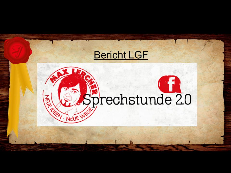 Bericht LGF Web 2.0 Facebook Sprechtag – Max Lercher