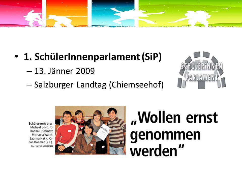 1. SchülerInnenparlament (SiP) – 13. Jänner 2009 – Salzburger Landtag (Chiemseehof)