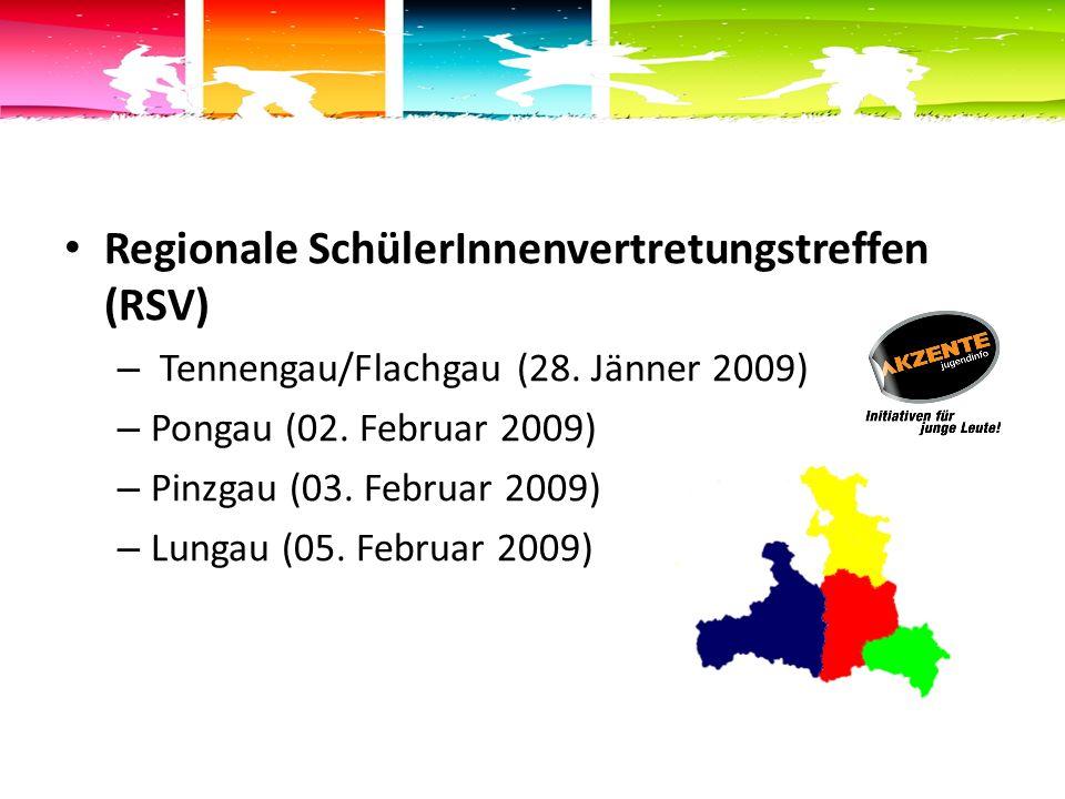 Regionale SchülerInnenvertretungstreffen (RSV) – Tennengau/Flachgau (28.