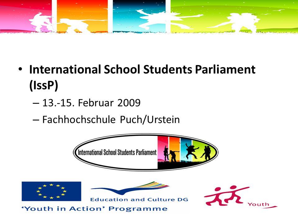 International School Students Parliament (IssP) – 13.-15.